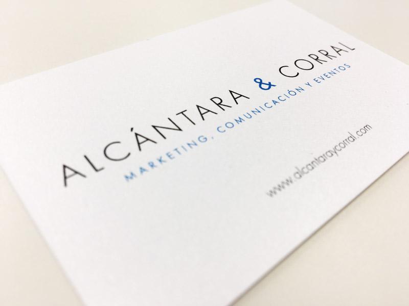Imagen corporativa para Alcántara & Corral-Logroño