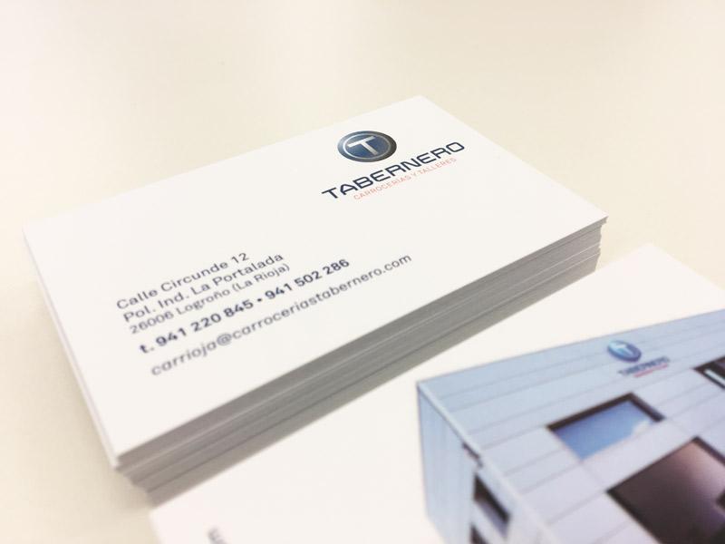 Diseño e impresión de tarjetas para Talleres y Carrocerías Tabernero-Logroño